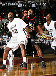 Mississippi Valley State Delta Devils guard Paul Crosby (32) in action during the SWAC Tournament game between the Grambling State Tigers and the Mississippi Valley State Delta Devils at the Special Events Center in Garland, Texas. Grambling State defeats Mississippi Valley 65 to 62
