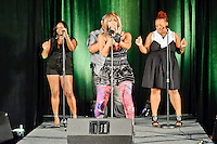 Seviin Li of Nelly's Derrty Entertainment family performing with Murphy Lee at St. Charles Fashion Week at Ameristar Casino on Aug 27, 2010.