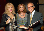 From left: Astrid Van Dyke, Judith Oudt and Robert Sakowitz at the grand opening of the Valentino restaurant at the Hotel Derek Thursday Oct. 15,2009. (Dave Rossman/For the Chronicle)