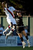 Manchester City's Emmanuel Abebayor during a match at Merlo Field in Portland Oregon on July 17, 2010.
