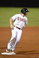 Salt River Rafters infielder Brandon Drury (5) during an Arizona Fall League game against the Peoria Javelinas on October 17, 2014 at Salt River Fields at Talking Stick in Scottsdale, Arizona.  The game ended in a 3-3 tie.  (Mike Janes/Four Seam Images)