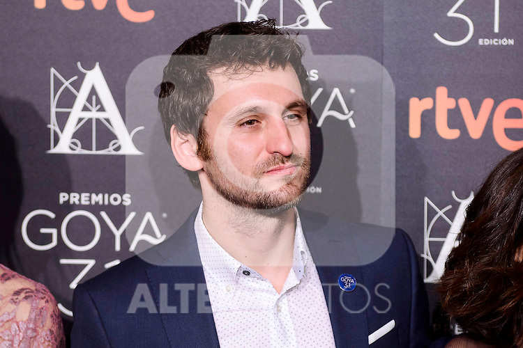Raul Arevalo attends to the 2017 Goya Awards Candidates Cocktail at Ritz Hotel in Madrid, Spain. January 12, 2017. (ALTERPHOTOS/BorjaB.Hojas)