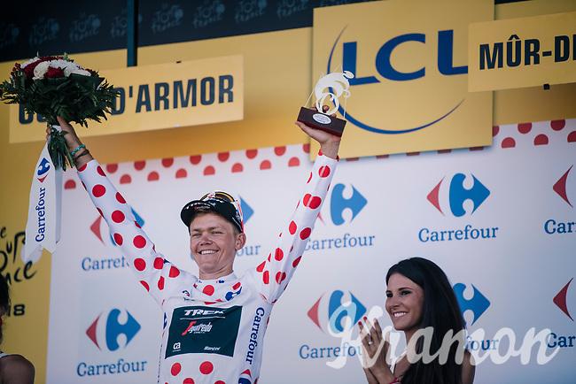Tom Skujins (LAT/Trek Segafredo): Polka Dot Jersey / KOM leader for another day...<br /> <br /> Stage 6: Brest > Mûr de Bretagne / Guerlédan (181km)<br /> <br /> 105th Tour de France 2018<br /> ©kramon