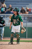Beloit Snappers catcher Jordan Devencenzi (18) during a game against the Dayton Dragons on July 22, 2018 at Pohlman Field in Beloit, Wisconsin.  Dayton defeated Beloit 2-1.  (Mike Janes/Four Seam Images)