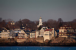 Grace Community Church over Marblehead Harbor, Marblehead, MA, USA
