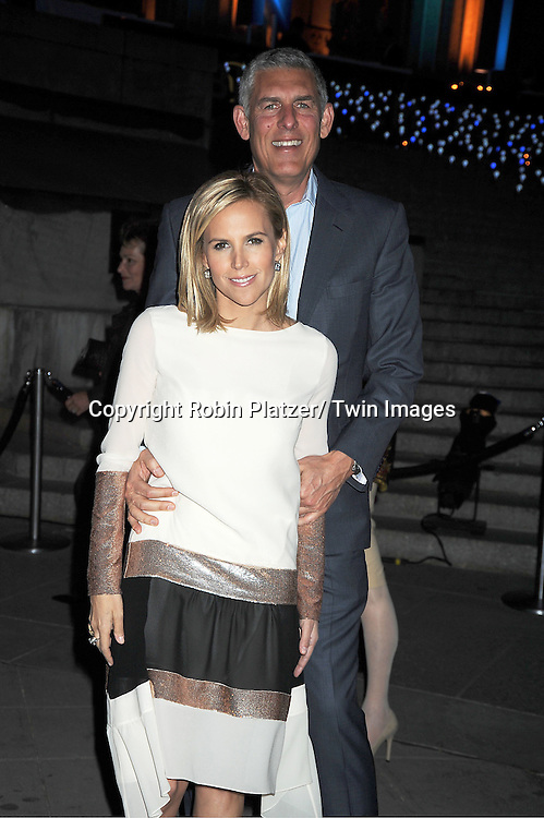 Tory  Burch and Lyor Cohen arrives at The Vanity Fair Tribeca Film Festival Party at The State Supreme Courthouse at 60 Centre Street on April 17, 2012 in New York City.
