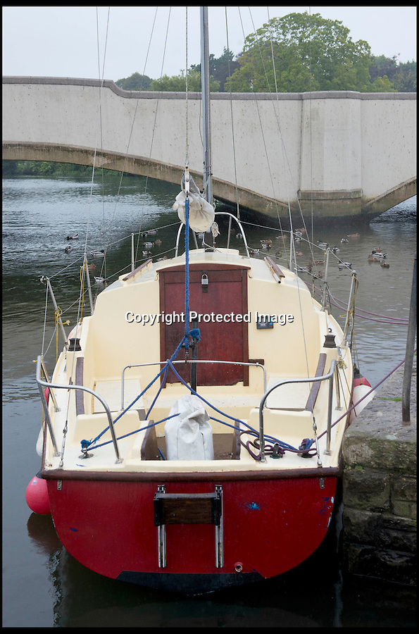 BNPS.co.uk (01202) 558833<br /> Picture: RachelAdams/BNPS<br /> <br /> Skipper Tim Freeman's new yacht moored at Wareham Quay<br /> <br /> An inept sailor who was rescued five times before his holed boat was seized is causing more chaos at sea after he bought another yacht.<br /> <br /> The hapless mariner, called Tim Freeman, repeatedly ran his 21ft yacht aground off the Sussex coast earlier this month and even had to swim to shore on one occasion.<br /> <br /> The vessel developed a hole in the hull and was in danger of sinking before the Maritime and Coastguard Agency detained it and told Mr Freeman to gain sufficient training.