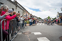 breakaway group rolling through town<br /> <br /> Stage 3 from Lorient to Pontivy (183km)<br /> 108th Tour de France 2021 (2.UWT)<br /> <br /> ©kramon