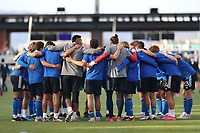 SAN JOSE, CA - MAY 15: San Jose Earthquakes huddle before a game between Portland Timbers and San Jose Earthquakes at PayPal Park on May 15, 2021 in San Jose, California.
