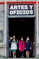 Spanish Royals Visit de La Vega Old Weapon Factory