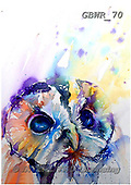 Simon, REALISTIC ANIMALS, REALISTISCHE TIERE, ANIMALES REALISTICOS, paintings+++++LizC_TawnyOwl,GBWR70,#a#, EVERYDAY