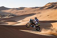 4th January 2021; Dakar Rally stage 2;  #77 Benavides Luciano (arg), Husqvarna, Rockstar Energy Husqvarna Factory Racing, Moto, Bike, action during the 2nd stage of the Dakar 2021 between Bisha and Wadi Al Dawasir, in Saudi Arabia on January 4, 2021