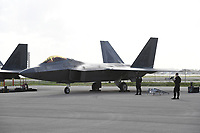 FORT LAUDERDALE FL - NOVEMBER 19: The Lockheed Martin F-22 Raptor is seen on the tarmac during press day for the Fort Lauderdale Air Show at the Fort Lauderdale-Hollywood International Airport on November 19, 2020 in Fort Lauderdale, Florida. Credit: mpi04/MediaPunch