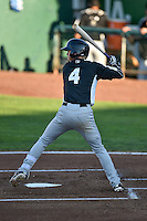 Taylor Snyder (4) of the Grand Junction Rockies at bat against the Ogden Raptors in Pioneer League action at Lindquist Field on August 25, 2016 in Ogden, Utah. The Rockies defeated the Raptors 12-3. (Stephen Smith/Four Seam Images)
