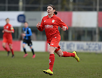 20180127 - AALTER , BELGIUM : Standard's Noemie Gelders pictured during the quarter final of Belgian cup 2018 , a womensoccer game between Club Brugge Dames and Standard Femina de Liege , in Aalter , saturday 27 th January 2018 . PHOTO SPORTPIX.BE | DAVID CATRY