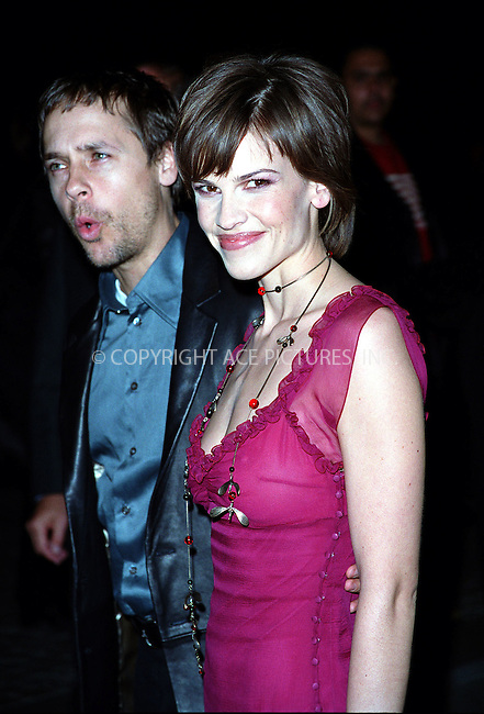 """New York, November 27, 2001..Hilary Swank and her husband Chad Lowe arriving at the Tribeca Grand Hotel in New York for the special screening of Hilary's latest film, """"The Affair of the Necklace."""" Please byline: Alecsey Boldeskul/NY Photo Press.   ..*PAY-PER-USE*      ....NY Photo Press:  ..phone (646) 267-6913;   ..e-mail: info@nyphotopress.com"""
