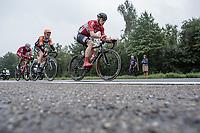 Early breakaway group with André Greipel (GER/Lotto Soudal), Pim Ligthart (NED/Roompot) and Nils Pollit (GER/Katusha Alpecin). <br /> <br /> Binckbank Tour 2017 (UCI World Tour)<br /> Stage 4: Lanaken > Lanaken (BEL) 155km