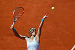 Caroline Garcia from France during her Madrid Open tennis tournament match against Maria Sharapova from Russia in Madrid, Spain. May 06, 2015. (ALTERPHOTOS/Victor Blanco)