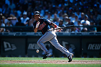 SEATTLE, WA - Roberto Alomar of the Cleveland Indians in action during a game against the Seattle Mariners at Safeco Field in Seattle, Washington in 2000. (Photo by Brad Mangin)