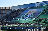 A banner in memory of Sassuolo President Giorgio Squinzi <br /> Reggio Emilia 20/10/2019 Stadio Citta del Tricolore <br /> Football Serie A 2019/2020 <br /> US Sassuolo - FC Internazionale <br /> Photo Andrea Staccioli / Insidefoto