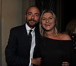 """ALESSANDRO FERRUCCI CON LA MOGLIE FRANCESCA CHIOCCHETTI<br /> PRESENTAZIONE SIGARO TOSCANO """"OPERA """" MST A VILLA AURELIA  ROMA 2014"""