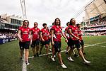 March Past during the HSBC Hong Kong Rugby Sevens 2017 on 08 April 2017 in Hong Kong Stadium, Hong Kong, China. Photo by Weixiang Lim / Power Sport Images