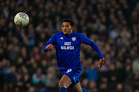 Nathaniel Mendez-Laing of Cardiff City during the Sky Bet Championship match between Aston Villa and Cardiff City at Villa Park, Birmingham, England on 10 April 2018. Photo by Mark  Hawkins / PRiME Media Images.