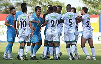 MONTERÍA- COLOMBIA, 18-02-2021:Jaguares de Córdoba y La Equidad en partido por la fecha 7 como parte de la Liga BetPlay DIMAYOR 2021 jugado en el estadio Jaraguay- Municipal de Montería de la ciudad de Montería. /Jaguares de Cordoba and La Equidad in match for the date 7 as part of the BetPlay DIMAYOR League I 2021 played at Jaraguay- Municipal de Monteria  stadium in Monteria city. Photo: VizzorImage / Felipe López / Contribuidor