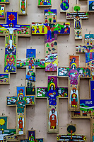 Antigua, Guatemala.  Artistic Decorative Crosses,  Nim Po't Handicrafts Outlet.