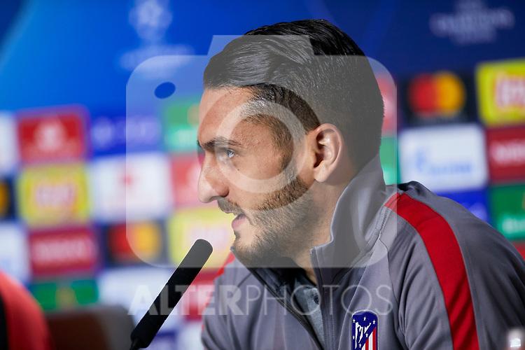 Jorge Resurreccion 'Koke' during the Press Conference before the UEFA Champions League match between Atletico de Madrid and Bayer 04 Leverkusen at Wanda Metropolitano Stadium in Madrid, Spain. October 21, 2019. (ALTERPHOTOS/A. Perez Meca)