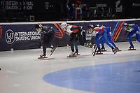 SPEEDSKATING: DORDRECHT: 05-03-2021, ISU World Short Track Speedskating Championships, QF 1500m Ladies, Corinne Stoddard (USA), Alica Porubska (SVK), Natalia Maliszwska (POL), Martina Valcepina (ITA), ©photo Martin de Jong