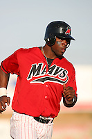 April 26 2009: Joe Dunigan of the High Desert Mavericks during game against the San Jose Giants at Mavericks Stadium in Adelanto,CA.  Photo by Larry Goren/Four Seam Images