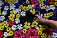 A BATH WITH FLOWERS MANDARA SPA, PALAU, MICRONESIA