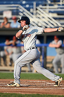 Connecticut Tigers designated hitter Joey Pankake (46) during a game against the Batavia Muckdogs on July 21, 2014 at Dwyer Stadium in Batavia, New York.  Connecticut defeated Batavia 12-3.  (Mike Janes/Four Seam Images)