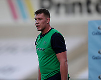 9th September 2020; AJ Bell Stadium, Salford, Lancashire, England; English Premiership Rugby, Sale Sharks versus Saracens; New signing Cobus Weise of Sale Sharks warms up pre match