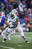 New York Jets tackle Kelvin Beachum (68) blocks during an NFL football game against the Buffalo Bills, Sunday, December 9, 2018, in Orchard Park, N.Y.  (Mike Janes Photography)