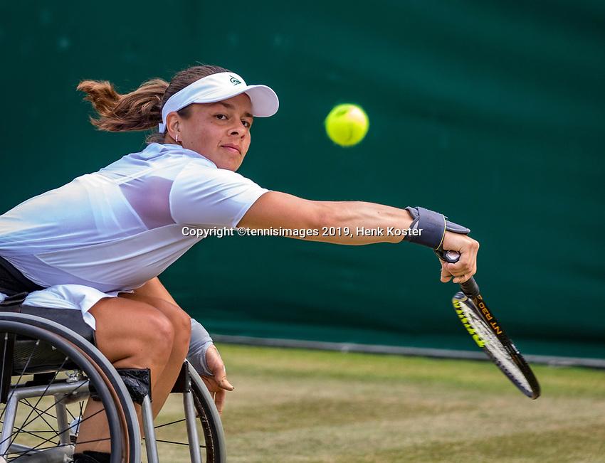 London, England, 11 July, 2019, Tennis,  Wimbledon, Ladies Wheelchair single: Marjolein Buis (NED)<br /> Photo: Henk Koster/tennisimages.com