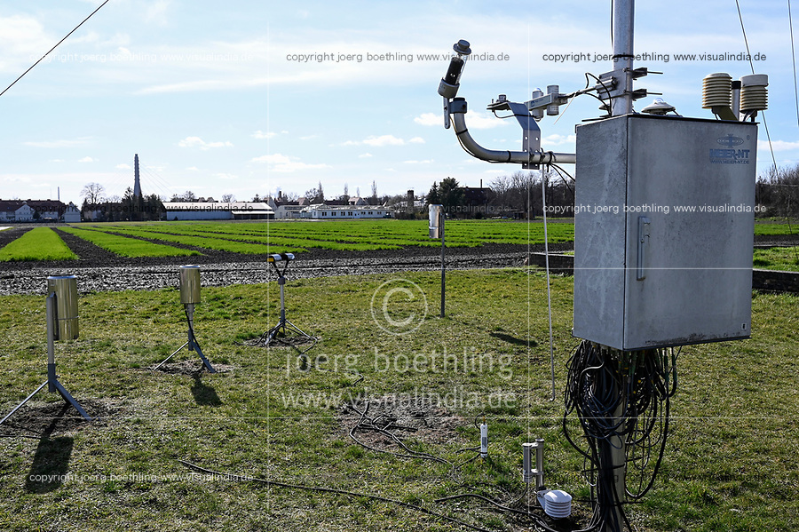 GERMANY, Halle, Martin-Luther University, grain experimental farming and seed research, adoption of climate change, measuring station