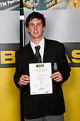 Boys Golf winner Ben Kendall from Avondale College. ASB College Sport Young Sportperson of the Year Awards 2008 held at Eden Park, Auckland, on Thursday November 13th, 2008.