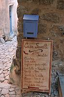 """France/2B/Haute Corse/Balagne/Pigna: Détail enseigne """"Casa Savelli"""" Produits Corses"""