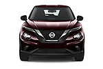 Car photography straight front view of a 2020 Nissan Juke 5 Door SUV Front View