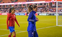 HOUSTON, TX - FEBRUARY 03: Tobin Heath #17 of the United States walks off the field during a game between Costa Rica and USWNT at BBVA Stadium on February 03, 2020 in Houston, Texas.