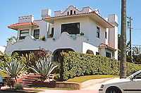 San Diego: Spanish Colonial Revival, 2525 San Marcos Ave., (Burlingame), 1912.  Photo 2003.