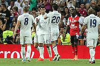 Real Madrid's Luca Modric, Asensio, Morata and Kroos during the XXXVII Bernabeu trophy between Real Madrid and Stade de Reims at the Santiago Bernabeu Stadium. August 15, 2016. (ALTERPHOTOS/Rodrigo Jimenez) /NORTEPHOTO