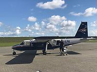 FLN Maschine auf dem Flughafen von Harle - Wangerooge 20.07.2020: Flug nach Wangerooge