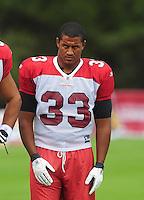 Jul 31, 2009; Flagstaff, AZ, USA; Arizona Cardinals fullback Justin Green during training camp on the campus of Northern Arizona University. Mandatory Credit: Mark J. Rebilas-