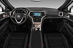 Stock photo of straight dashboard view of 2017 JEEP Grand-Cherokee Limited 5 Door SUV Dashboard