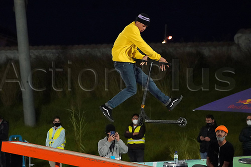 8th November 2020; Parc del Forum, Barcelona, Catalonia, Spain; Imagin Extreme Barcelona;  Dante Hutchinson (GBR) during Scooter mens street semifinal