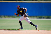Pittsburgh Pirates second baseman Norkis Marcos (72) during a Florida Instructional League game against the Toronto Blue Jays on September 20, 2018 at the Englebert Complex in Dunedin, Florida.  (Mike Janes/Four Seam Images)