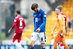 St Johnstone v Rangers…22.09.19   McDiarmid Park   SPFL<br />Murray Davidson leaves the pitch at full time<br />Picture by Graeme Hart.<br />Copyright Perthshire Picture Agency<br />Tel: 01738 623350  Mobile: 07990 594431